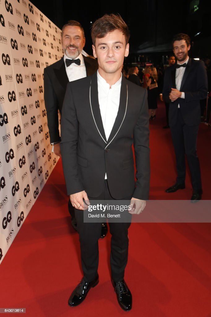 David Walliams, Tom Daley and Jack Whitehall attend the GQ Men Of The Year Awards at the Tate Modern on September 5, 2017 in London, England.