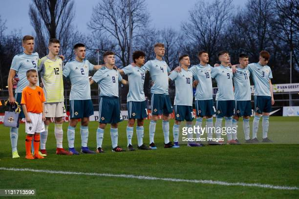 'SGRAVENZANDE NETHERLANDS MARCH 20 David Walsh of Northern Ireland U17 Dermot Mee of Northern Ireland U17 Jack Scott of Northern Ireland U17 Dylan...