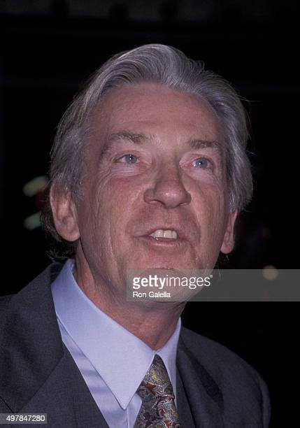 David Warner attends the premiere of 'Titanic' on December 12 1997 at Mann Chinese Theater in Hollywood California