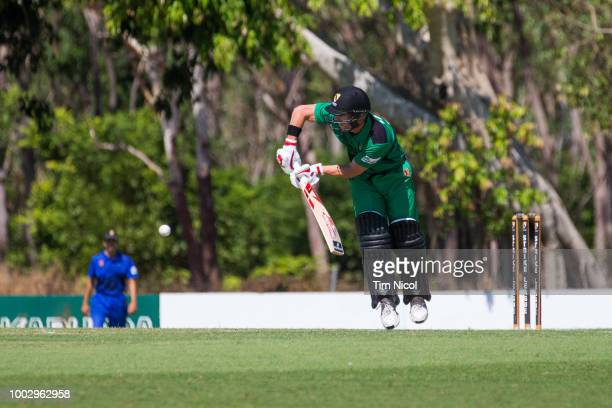 David Warner speaks to the media during the NT Strike League match between the City Cyclones and the Northern Tide at Marrara Oval on July 21 2018 in...