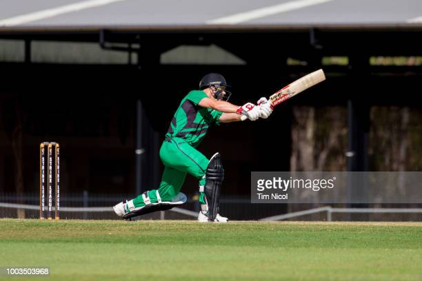 David Warner competes in the NT Strike League match between the City Cyclones and the Desert Blaze at Marrara Oval on July 22 2018 in Darwin Australia