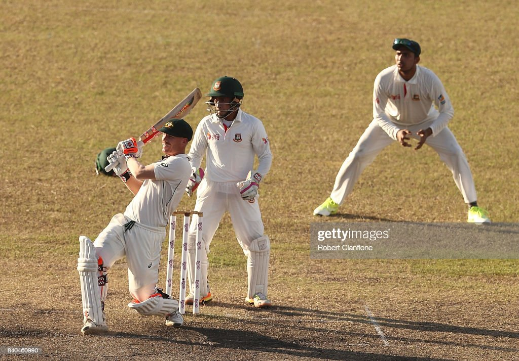 Bangladesh v Australia - 1st Test: Day 3 : News Photo