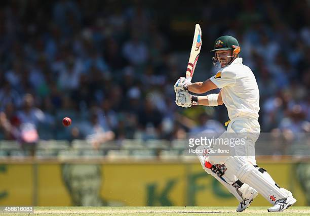 David Warner of Australia bats during day three of the Third Ashes Test Match between Australia and England at WACA on December 15 2013 in Perth...