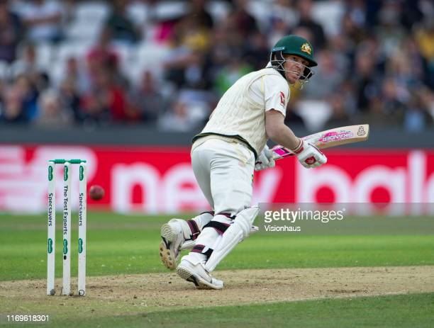 David Warner of Australia batting during day one of the 3rd Ashes Test match between England and Australia at Headingley on August 22 2019 in Leeds...