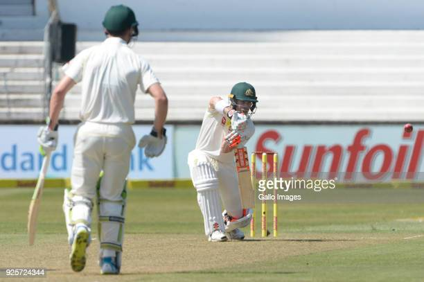 David Warner of Australia during day 1 of the 1st Sunfoil Test match between South Africa and Australia at Sahara Stadium Kingsmead on March 01 2018...