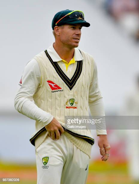 David Warner of Australia during day 3 of the 3rd Sunfoil Test match between South Africa and Australia at PPC Newlands on March 24 2018 in Cape Town...