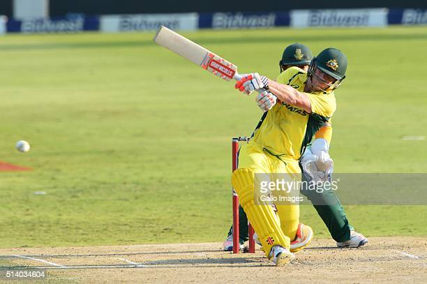David Warner of Australia during the 2nd KFC T20 International match between South Africa and Australia at Bidvest Wanderers Stadium on March 06 2016...