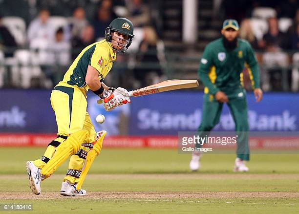 David Warner of Australia during the Momentum ODI Series 5th ODI match between South Africa and Australia at PPC Newlands on October 12 2016 in Cape...