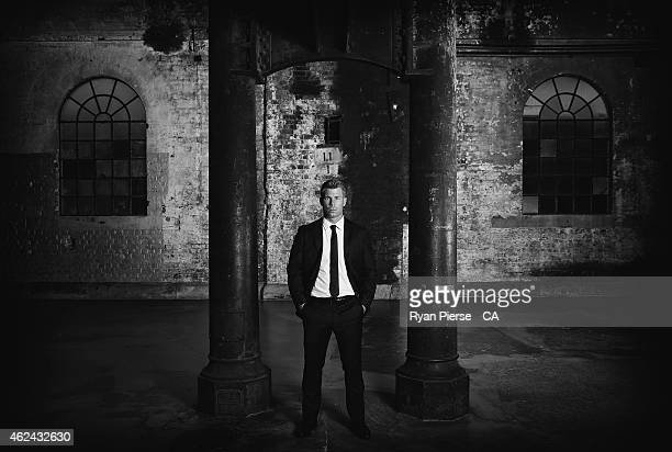 David Warner of Australia poses ahead of the 2015 Allan Border Medal at Carriageworks on January 27 2015 in Sydney Australia