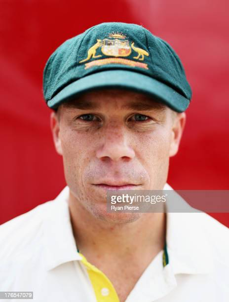 David Warner of Australia poses during a Portrait Session at The County Ground on August 15, 2013 in Northampton, England.