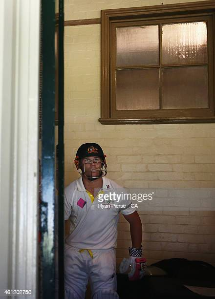 David Warner of Australia prepares to walk out to bat during day four of the Fourth Test match between Australia and India at Sydney Cricket Ground...