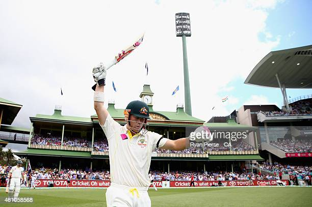 David Warner of Australia walks out to bat during day one of the Fourth Test match between Australia and India at Sydney Cricket Ground on January 6,...