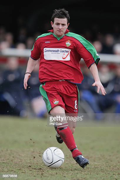 LONDON February 18 David Warner of Windsor Eton during the Ryman League Premier Division match between AFC Wimbledon and Windsor Eton FC at...