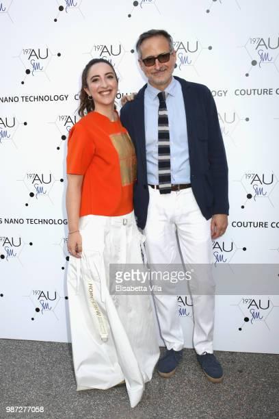 David Warren and Anna Ferraioli Ravel attend Sfilata AU197SM AltaRoma on June 29 2018 in Rome Italy