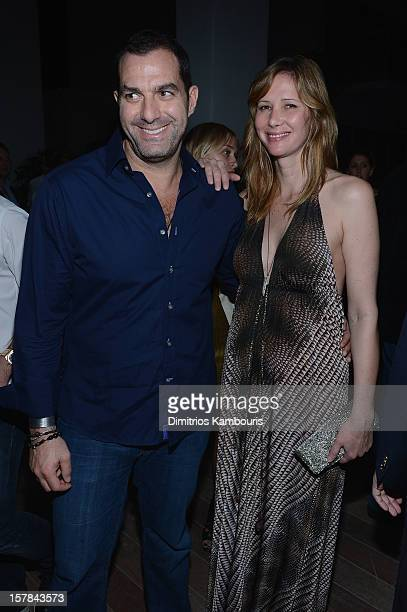 David Wassong and Cynthia Clift attend the celebration of Dom Perignon Luminous Rose at Wall at W Hotel on December 6 2012 in Miami Beach Florida