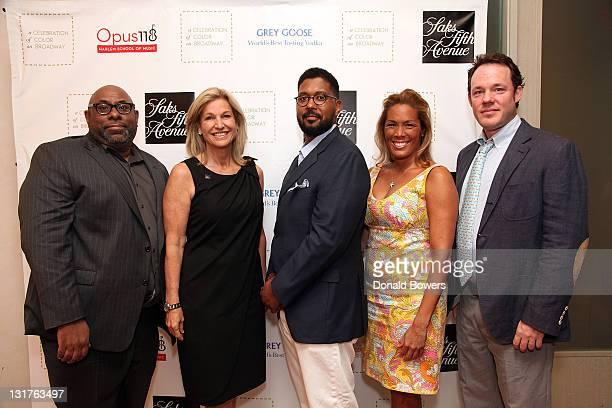 David Watkins Suzie Johnson Jason Jackson Kemberly Richardson and David Poleman attend the Color of Broadway presented by Saks Fifth Avenue at Saks...