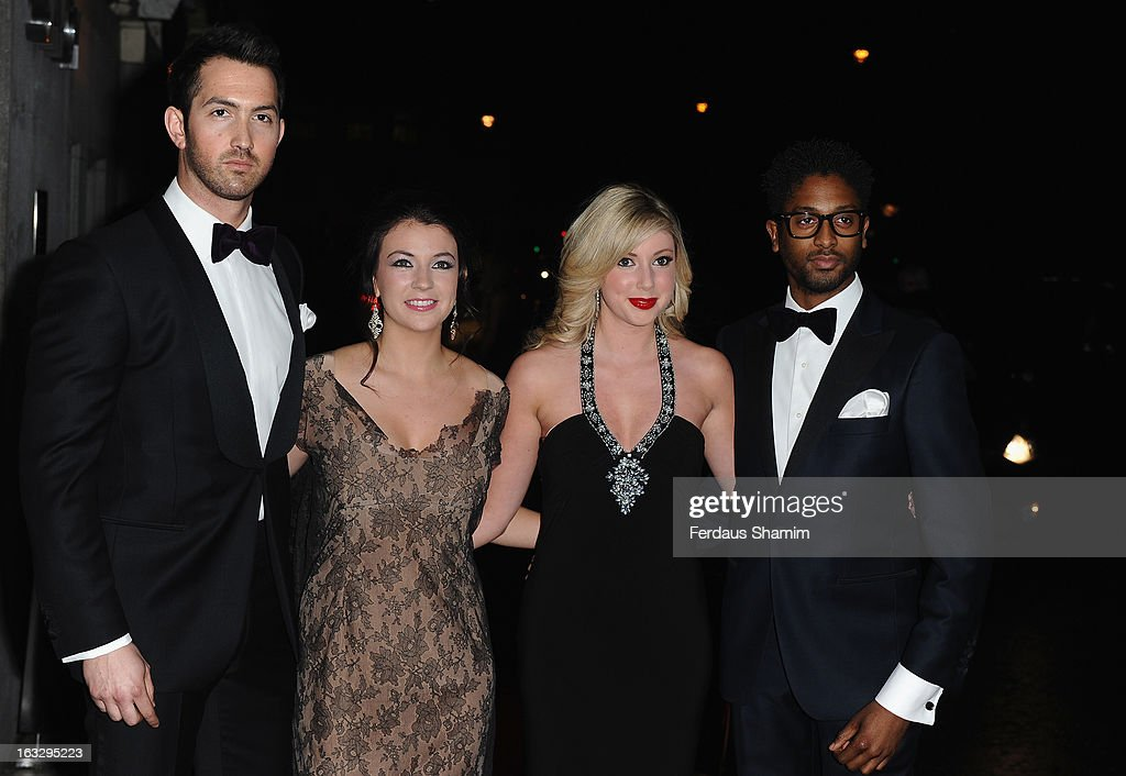David Webb, Monica Mcghee, Victoria Gray and Peter Braithwaite of Amore attend the Helping Hands VIP fundraising dinner in aid of WellChild at The Savoy Hotel on March 7, 2013 in London, England.