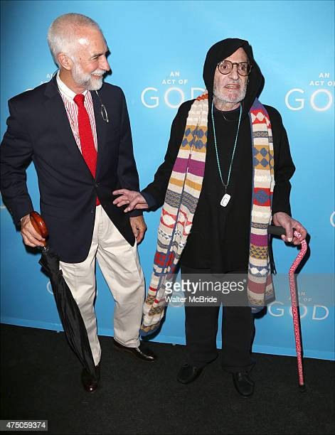 David Webster and Larry Kramer attend the Broadway Opening Night of 'An Act of God' at Studio 54 on May 28 2015 in New York City