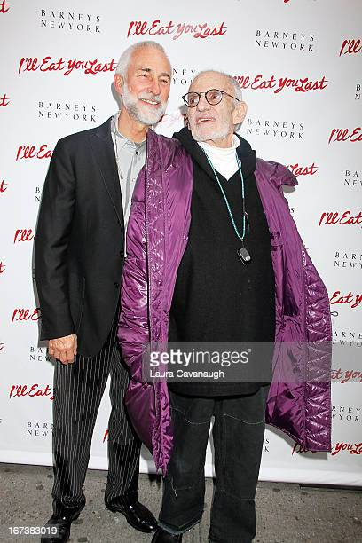 David Webster and Larry Kramer attend the I'll Eat You Last A Chat With Sue Mengers Broadway opening night on April 24 2013 in New York City