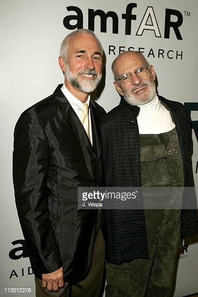 David Webster and Larry Kramer during amfAR's Fifth Annual Honoring with Pride Awards Dinner at Gotham Hall in New York City New York United States