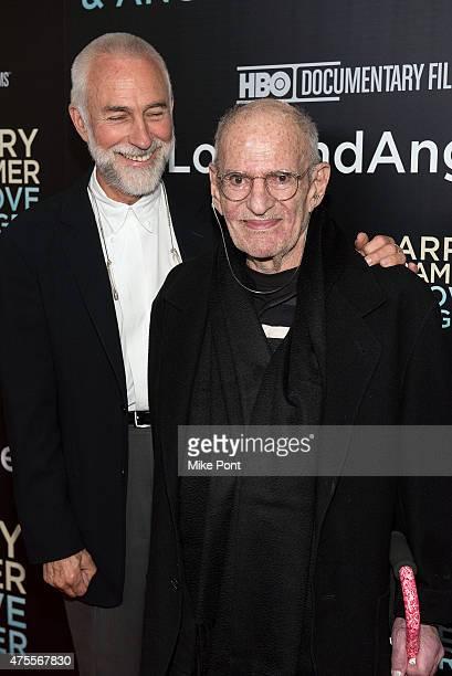 David Webster and LGBT activist Larry Kramer attend the Larry Kramer in Love and Anger New York Premiere at Time Warner Center on June 1 2015 in New...