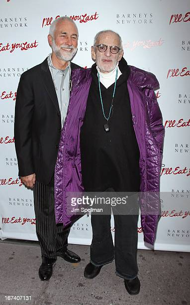 David Webster and playwright Larry Kramer attend the I'll Eat You Last Broadway Opening Night at the Booth Theatre on April 24 2013 in New York City