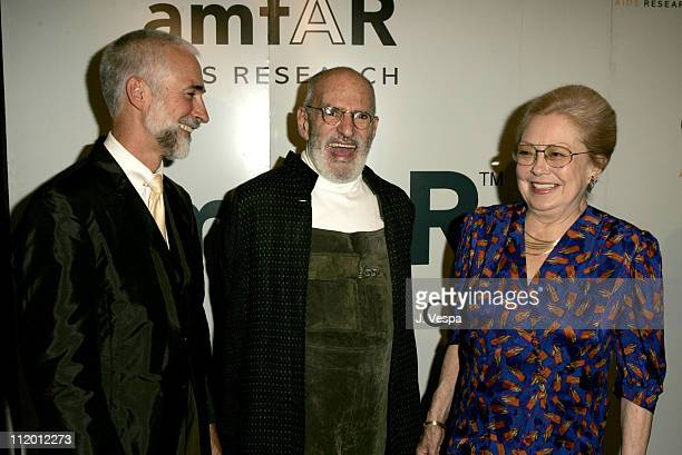 David Webster Larry Kramer and Dr Mathilde Krim during amfAR's Fifth Annual Honoring with Pride Awards Dinner at Gotham Hall in New York City New...