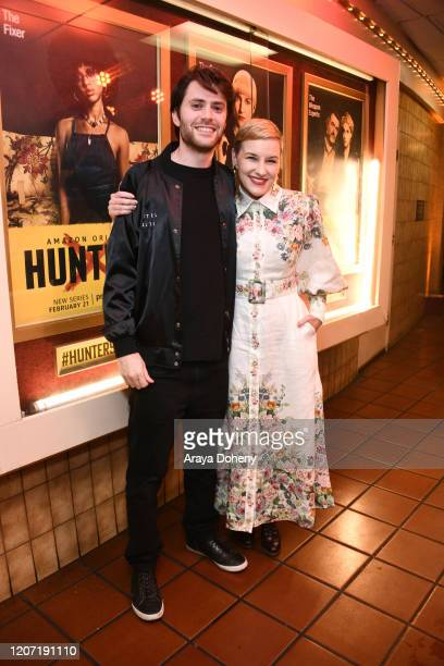 David Weil and Kate Mulvany at Amazon Prime Video's Hunters Grindhouse Experience VIP Preview on February 18, 2020 in Los Angeles, California.