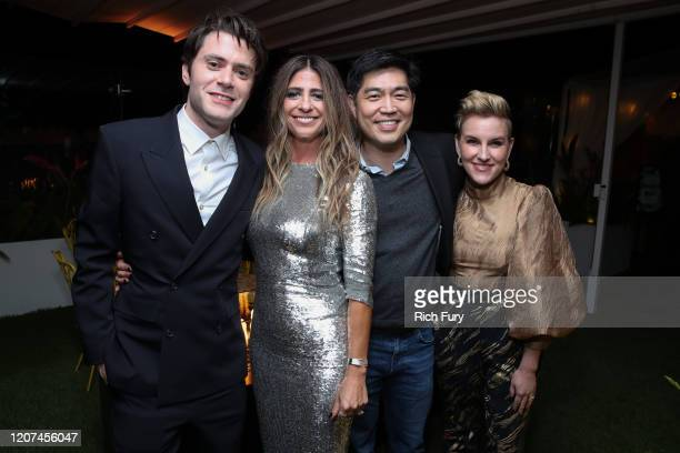 "David Weil, Nikki Toscano, Albert Cheng and Kate Mulvany attend the after party for the premiere of Amazon Prime Video's ""Hunters"" on February 19,..."