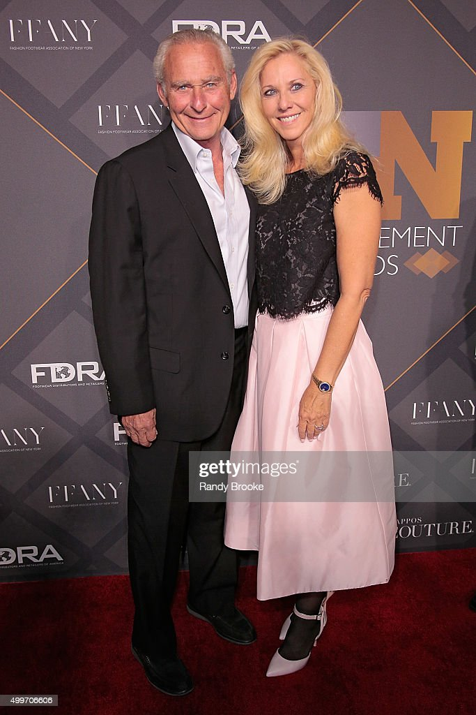 David Weinberg and guest attend the 29th FN Achievement Awards at IAC Headquarters on December 2, 2015 in New York City.