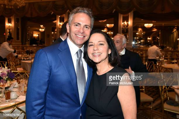 David Weinreb and Amy Weinreb attend Alzheimer's Drug Discovery Foundation's Ninth Annual Fall Symposium Luncheon at the Pierre Hotel on November 9...