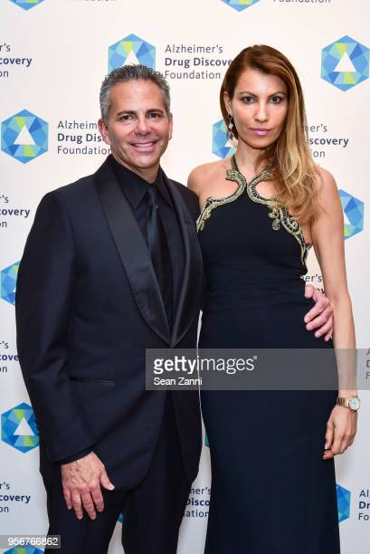 David Weinreb and Ana Laspetkovski attend Alzheimer's Drug Discovery Foundation 12th Annual Connoisseur's Dinner at Sotheby's on May 3 2018 in New...