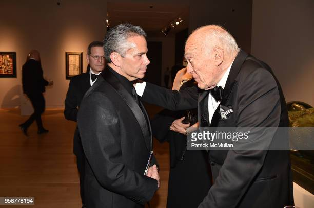 David Weinreb and Leonard Lauder attend Alzheimer's Drug Discovery Foundation 12th Annual Connoisseur's Dinner at Sotheby's on May 3 2018 in New York...