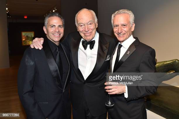 David Weinreb Leonard Lauder and Dr Howard Fillit attend Alzheimer's Drug Discovery Foundation 12th Annual Connoisseur's Dinner at Sotheby's on May 3...