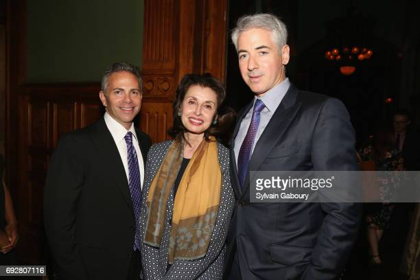 David Weinreb Mary Ann Tighe and Bill Ackman attend The Pershing Square Foundation 10th Anniversary Celebration at Park Avenue Armory on June 5 2017...