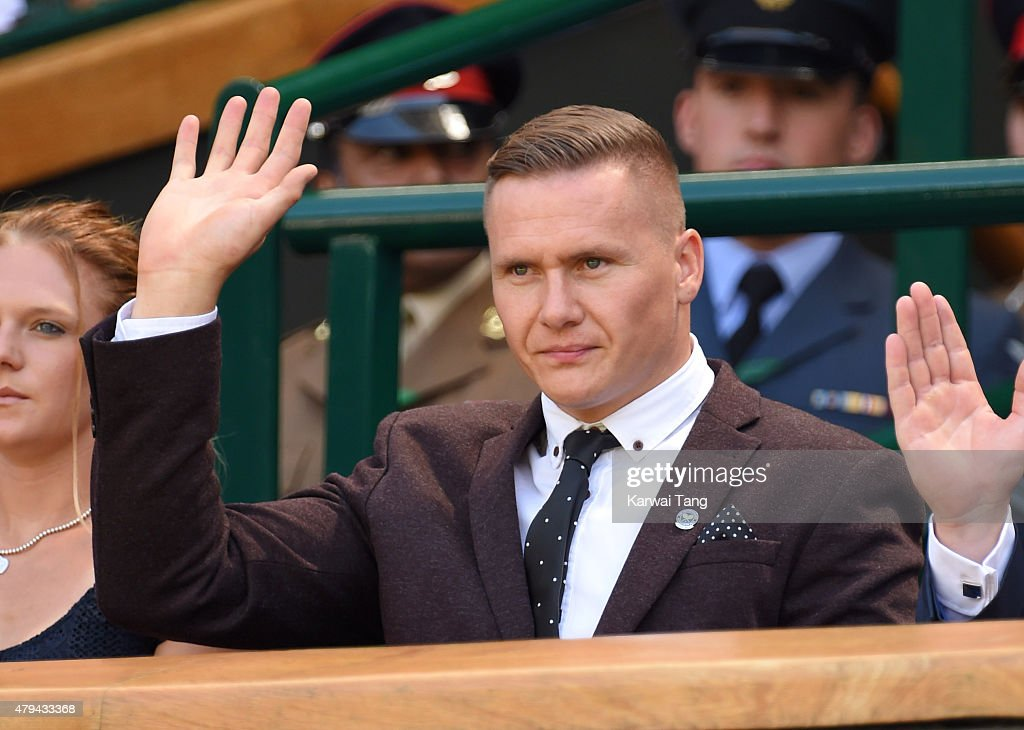 David Weir attends day six of the Wimbledon Tennis Championships at Wimbledon on July 4, 2015 in London, England.