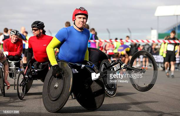 David Weir during the adidas Silverstone Half Marathon at Silverstone Circuit on March 3 2013 in Northampton England