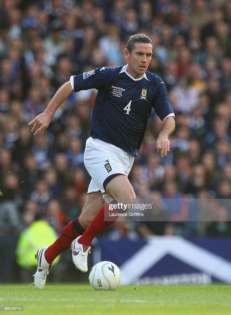 David Weir of Scotland in action during the FIFA 2010 World Cup Qualifying Match between Scotland and Norway at Hampden Park on October 11, 2008 in Glasgow, Scotland.