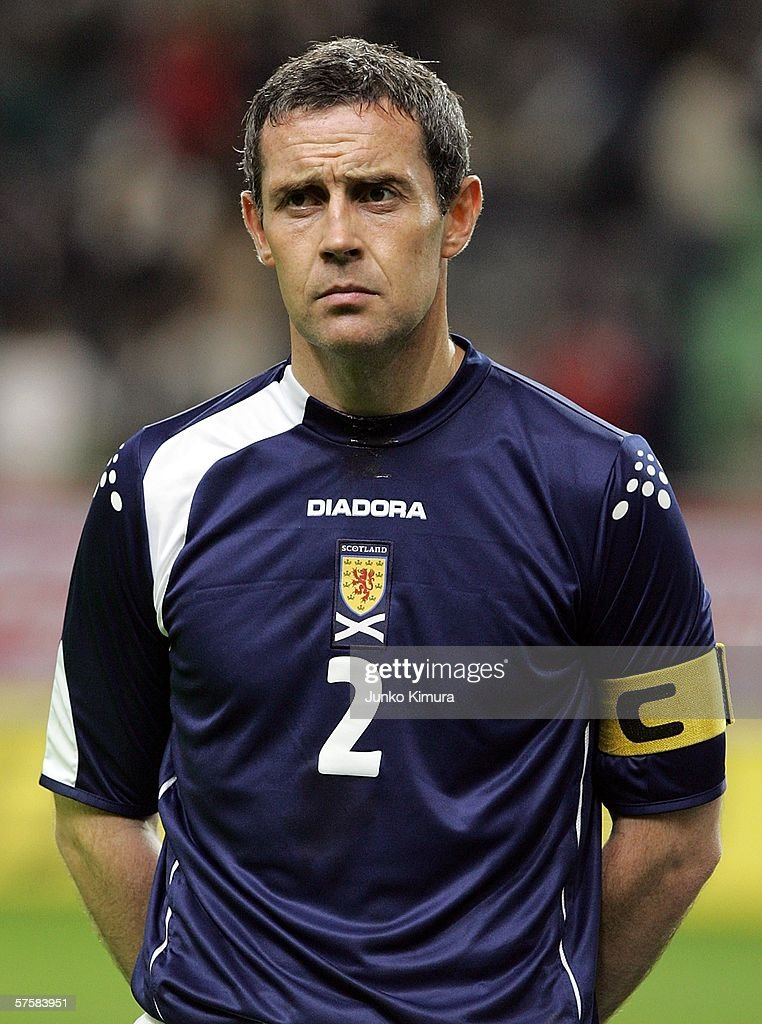 David Weir of Scotland is seen before playing the Kirin Cup Soccer 2006 match between Scotland and Bulgaria at the Kobe Wing Stadium on May 11, 2006 in Kobe, Japan