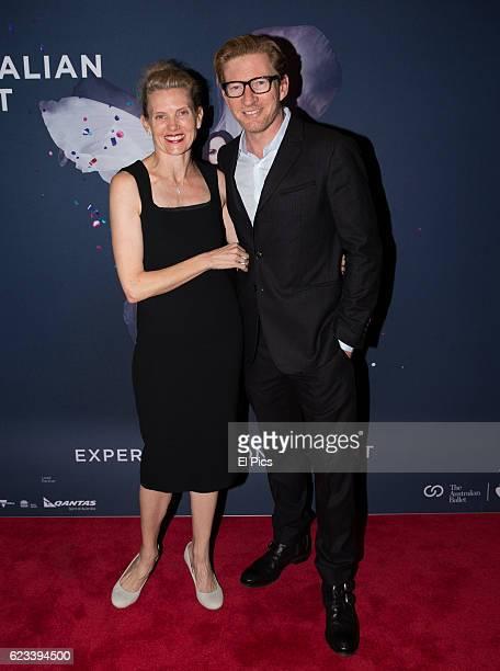 David Wenham and Kate Agnew arrive at The opening night of the Australian Ballets Najinsky on November 11 2016 in Sydney Australia