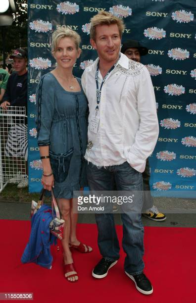David Wenham and Kate Agnew during Sony Tropfest 2007 at The Domain Royal Botanic Gardens in Sydney NSW Australia