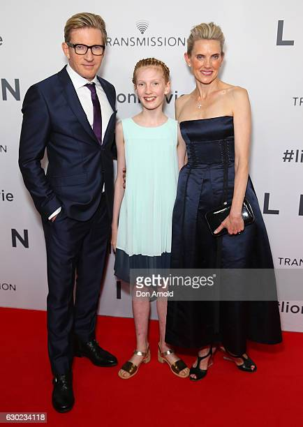 David Wenham daughter Eliza Jane Wenham and partner Kate Agnew arrive ahead of the Australian premiere of LION at State Theatre on December 19 2016...
