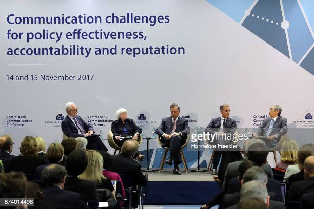 David Wessel, Brooking Institution, Janet Yellen, Chair of the Federal Reserve, Mario Draghi, President of the European Central Bank , Mark Carney,...