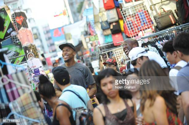 David West and Assistant Coach Mike Brown of the Golden State Warriors takes in some sights around Hong Kong as part of the 2017 Global Games China...