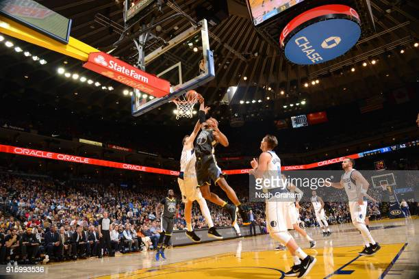 David West of the Golden State Warriors dunks against the Dallas Mavericks on February 8 2018 at ORACLE Arena in Oakland California NOTE TO USER User...