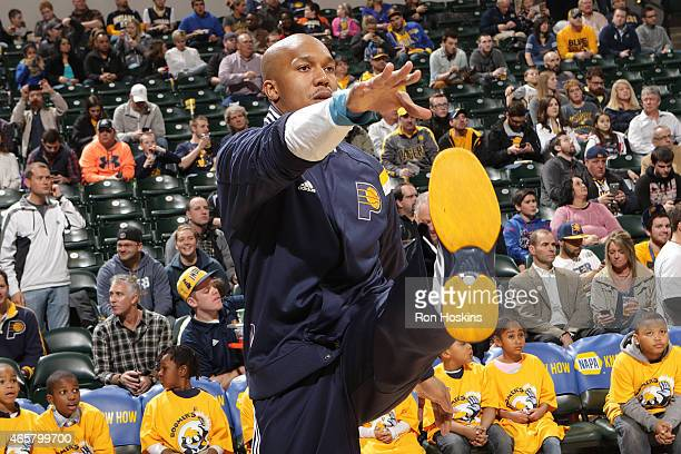 David West of the Indiana Pacers before the game against the Orlando Magic on March 10 2015 at Bankers Life Fieldhouse in Indianapolis Indiana NOTE...