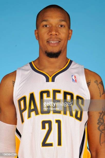 David West of the Indiana Pacers poses for a photo during the media day on December 14 2011 at Conseco Fieldhouse in Indianapolis Indiana NOTE TO...