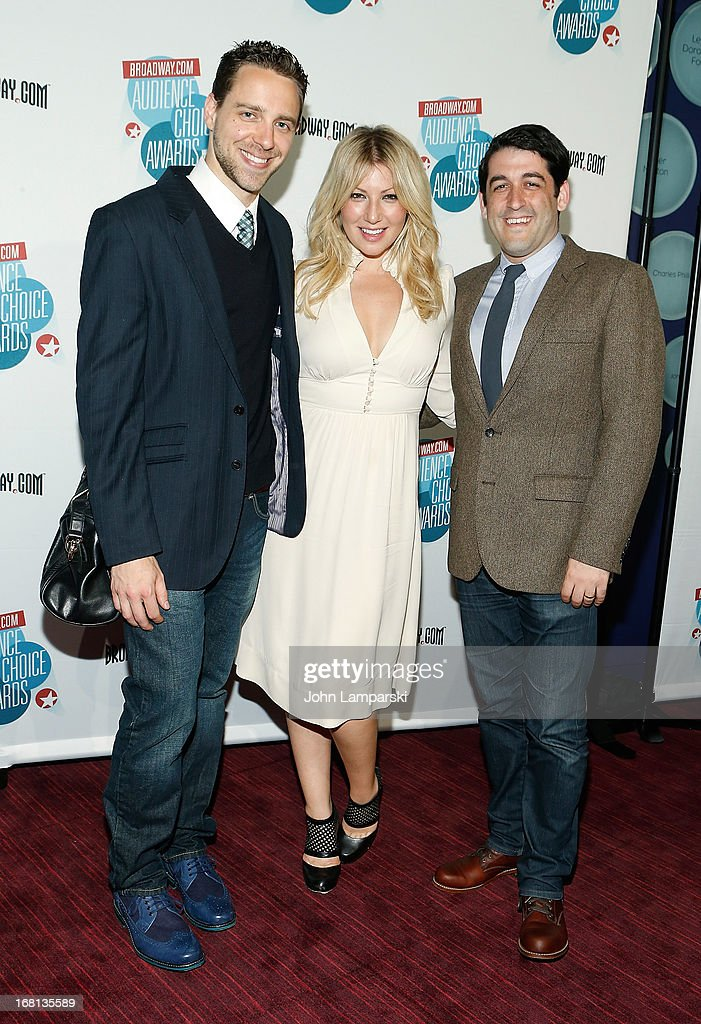 David West Read, Ari Graynor and Evan Cabnet attend The 2013 Broadway.com Audience Choice Awards at Jazz at Lincoln Center on May 5, 2013 in New York City.
