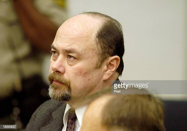 David Westerfield listens to arguments during a sentencing hearing at the Superior Courthouse November 22 2002 in San Diego California A judge...