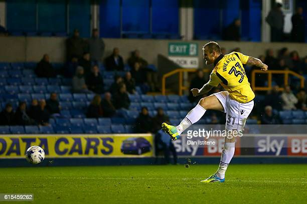 David Wheater of Bolton Wanderers scores his team's second goal during the Sky Bet League One match between Millwall and Bolton Wanderers at The Den...